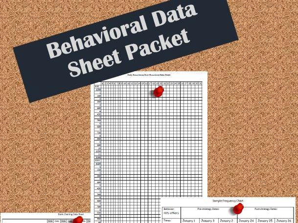 Behavioral Data Sheets Packet