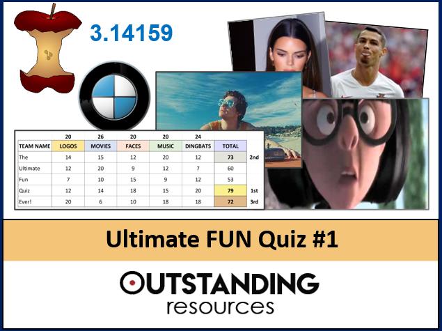 Ultimate FUN QUIZ 2021 #1 (End of Year Quiz, End of Term QUIZ) - Logos, Dingbats, Music, Movies