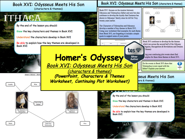 Homer's Odyssey – Book XVI: Odysseus Meets His Son (characters & themes)