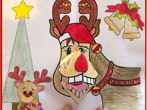 Christmas Crafts - Reindeer Fun POP-UP