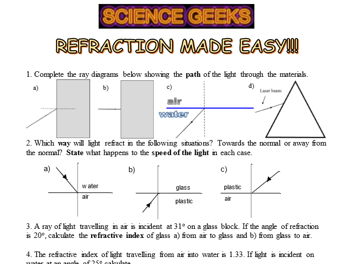 Refraction Made Easy!