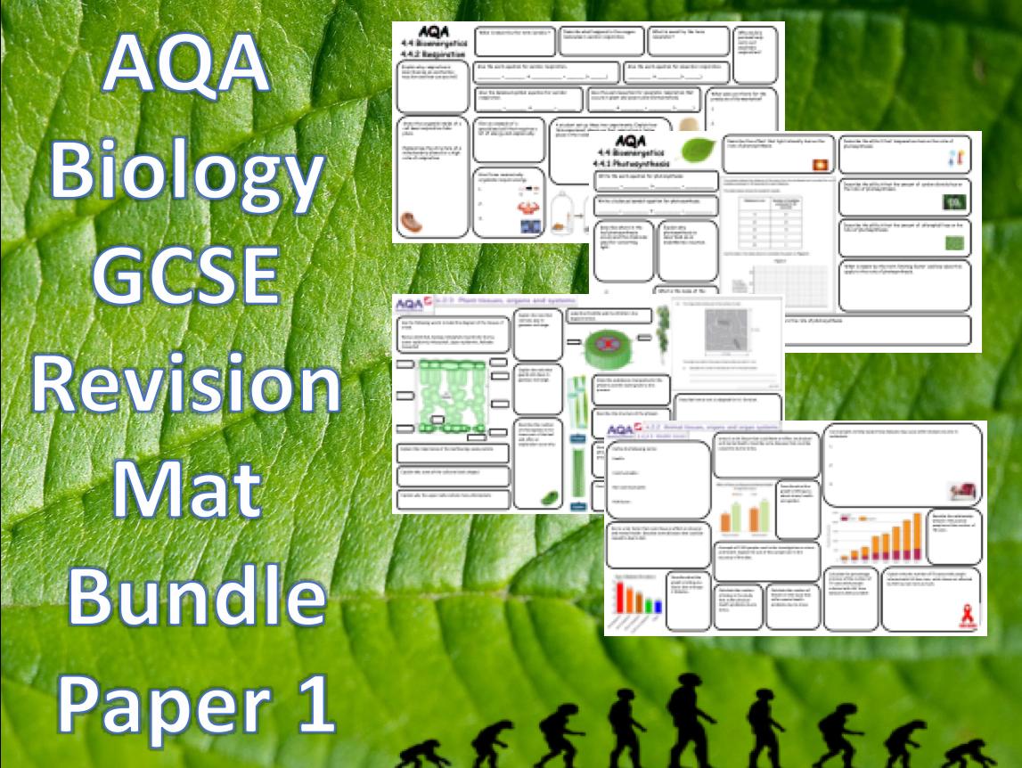 AQA GCSE Combined Science Biology Revision Mat Bundle Paper 1