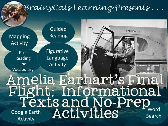 Amelia Earhart's Final Flight: Informational Texts and No-Prep Activities for Women's History Month