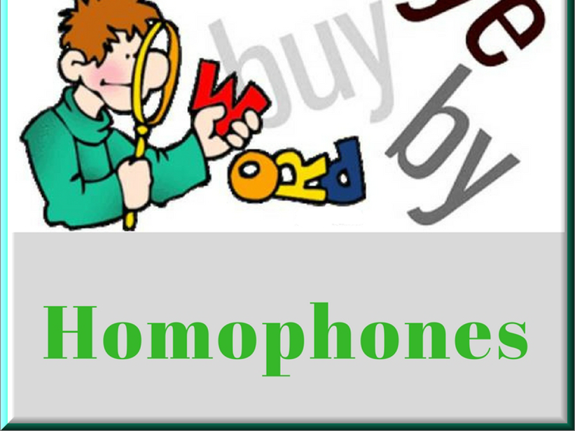 ESOL Homophones Activities and Games