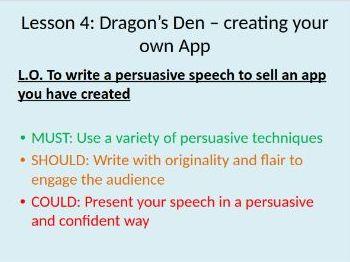 CREATIVE Social media mini scheme of work - celebrities, cyber bullying, blogs, Dragon's Den lesson