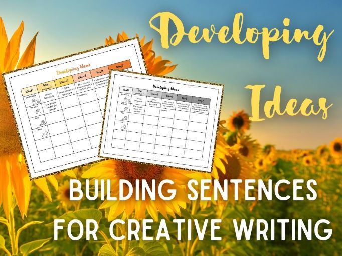 Summer Writing | Developing Ideas | Sentence Building | KS2 and KS3