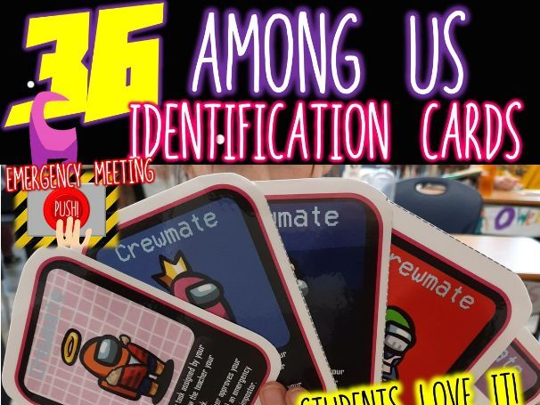 Among US Identification Cards-Gamify Your Classroom Instantly! Whole Class Game
