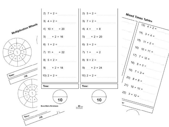 Times Tables worksheets (2-12) BUNDLE (79 worksheets)