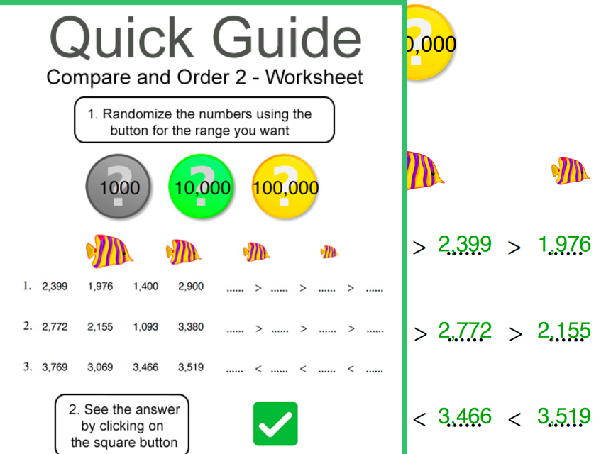 Compare & Order Numbers 2 -  Worksheets
