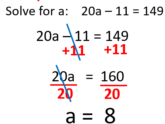 Linear Equations with more than one Operation