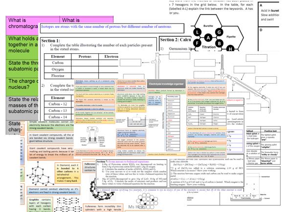 GCSE Chemistry revision bundle