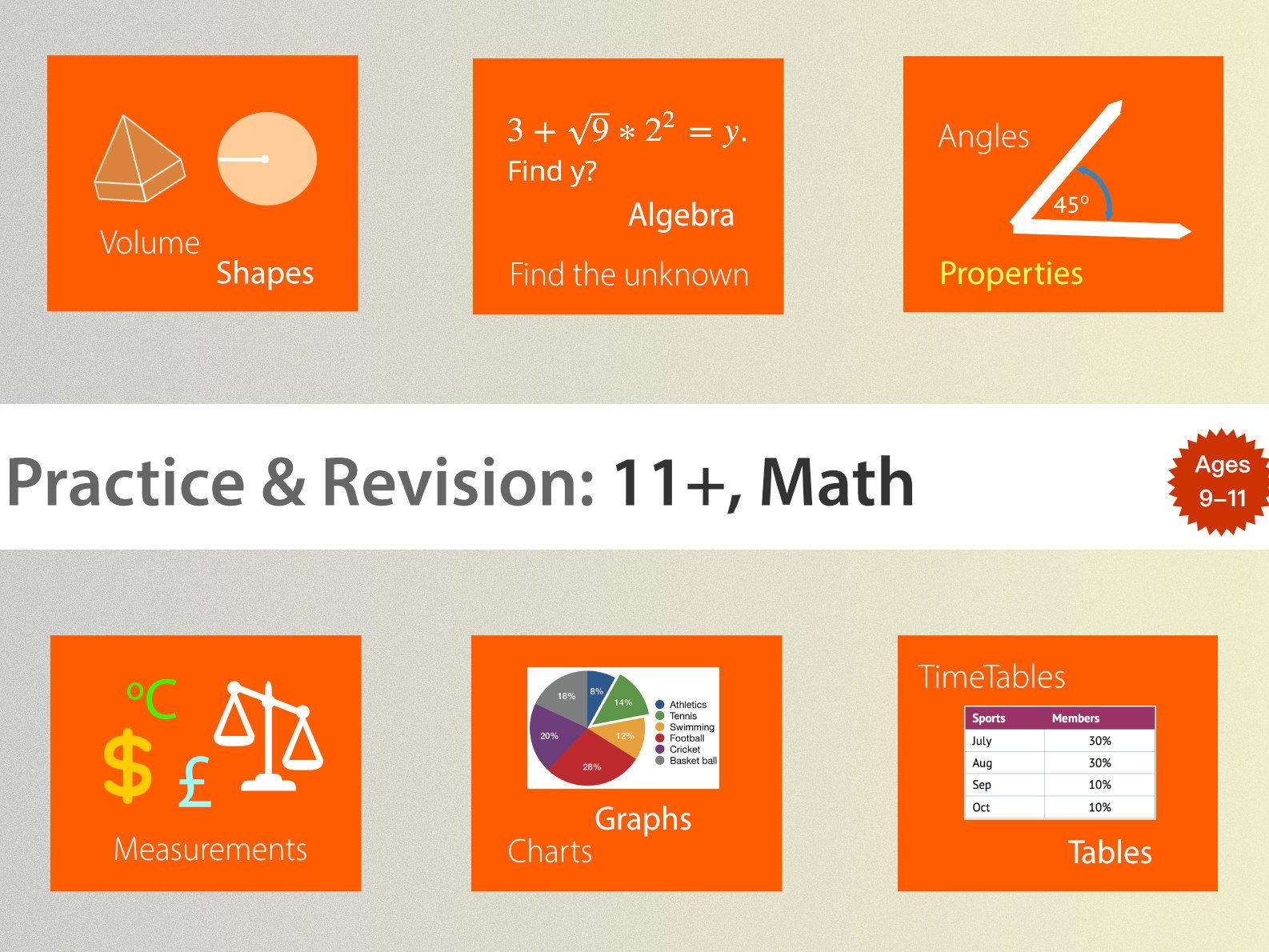 11+ Math Practice & Revision Bundle