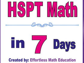 HSPT Math in 7 Days + 2 full-length HSPT Math practice tests