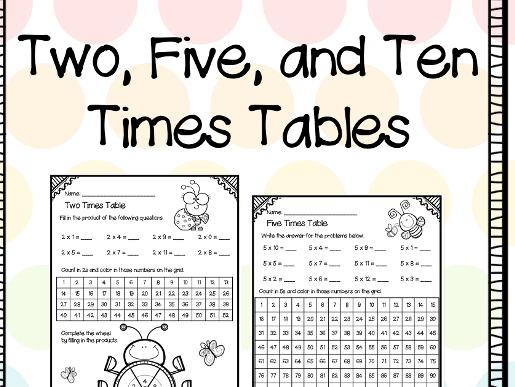 Two, Five, & Ten Times Table
