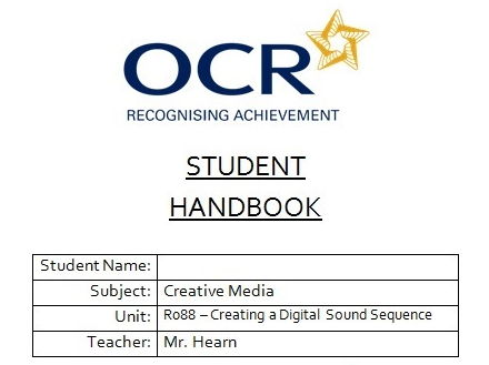 R088 - Creating a Digital Sound Sequence, Student Handbook, CAMNATS, Creative iMedia Lvls 1/2