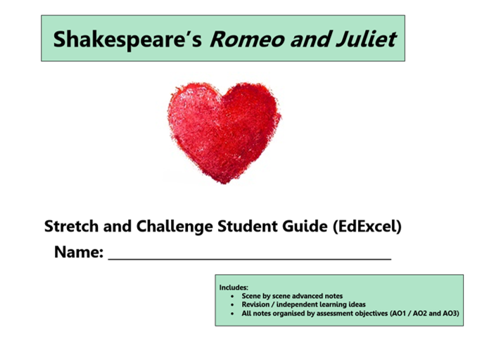 GCSE 9-1 Romeo and Juliet EdExcel Scheme of Work / Learning