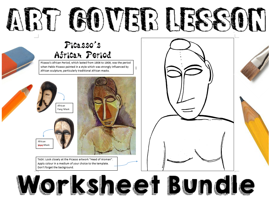 7 Art Cover Lesson Worksheets