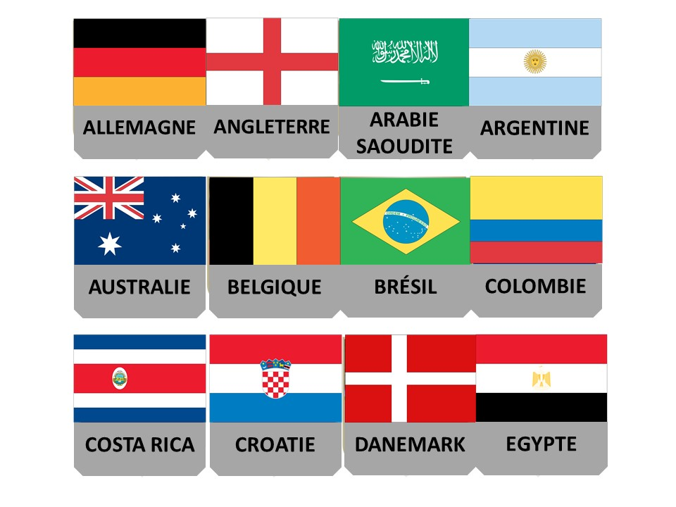 French World Cup: Flags and countries match up