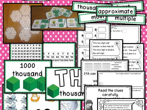 Interactive Place Value Displays & Challenge Table Activities Year 3 Number
