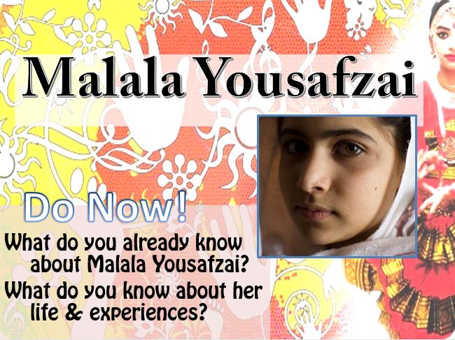Malala Yousafzai Assembly/Tutor Time