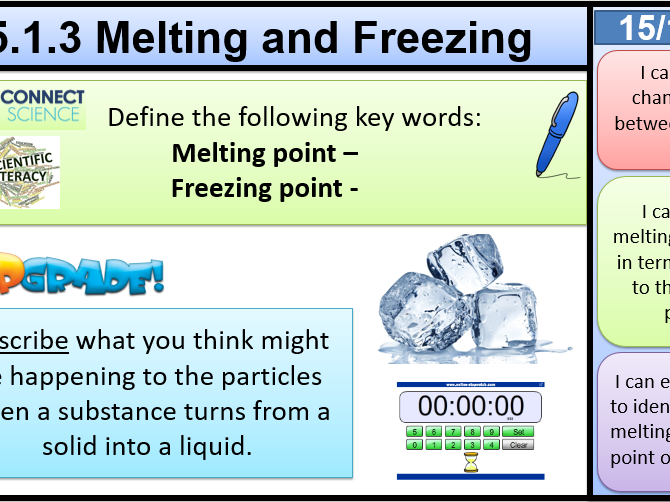 5.1.3 Melting and Freezing KS3 Activate