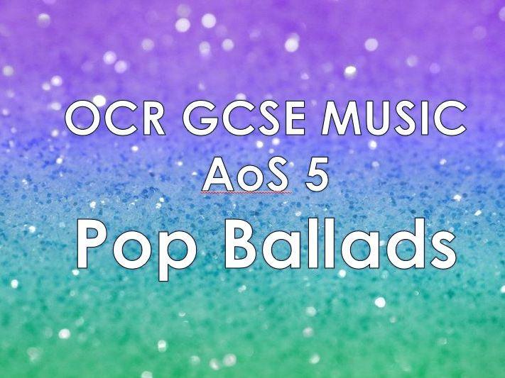 OCR Music AoS5 - Pop Ballads