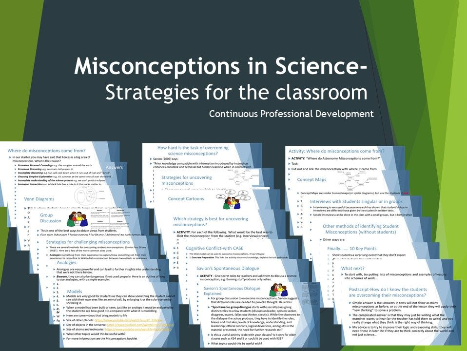 Science Misconceptions CPD