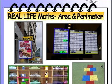 Real Life Math Revision - Area & Perimeter 1 Worksheet