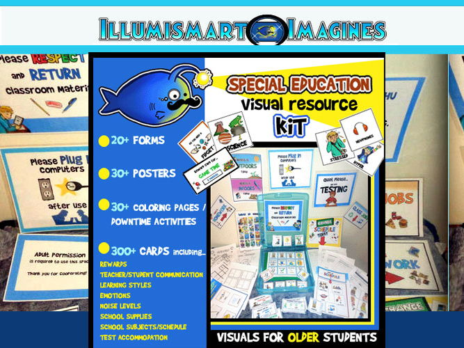 Special Education Visual Resource BUNDLE!130 Ct. Posters, Cards, Activities & More!