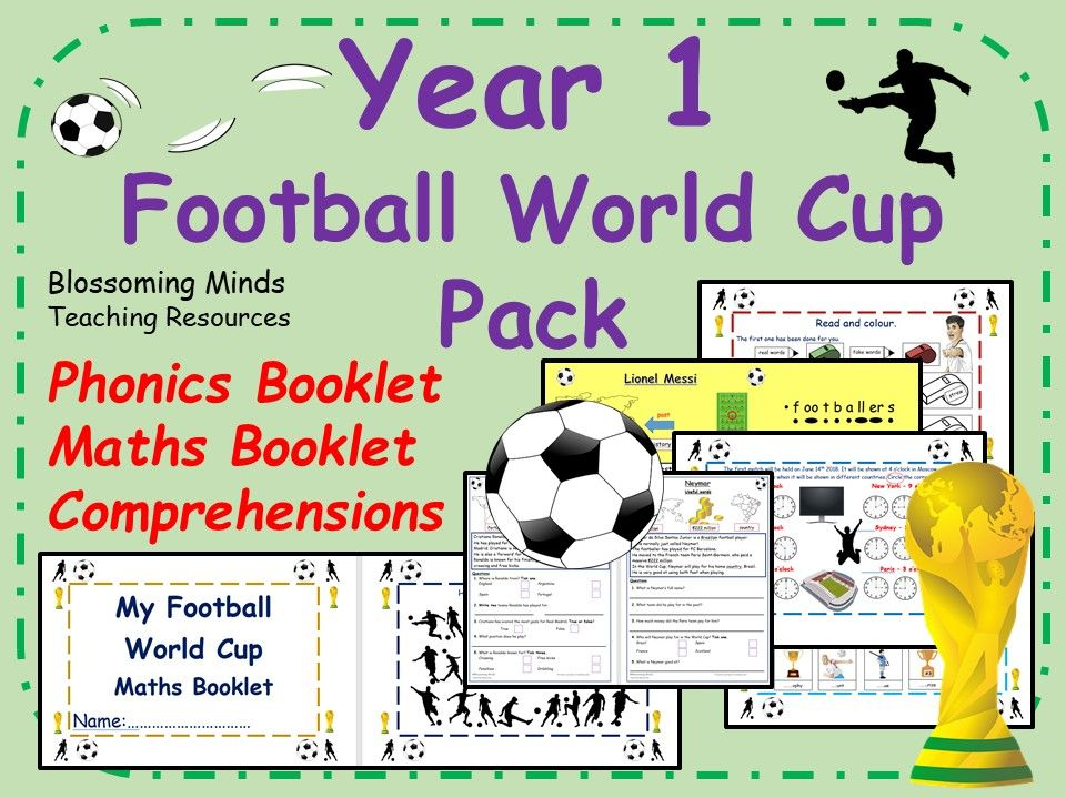 Year 1 Football World Cup 2018 Pack