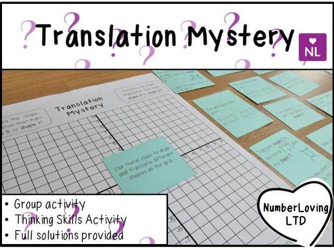 Translation Mystery & Quick Fire Starter