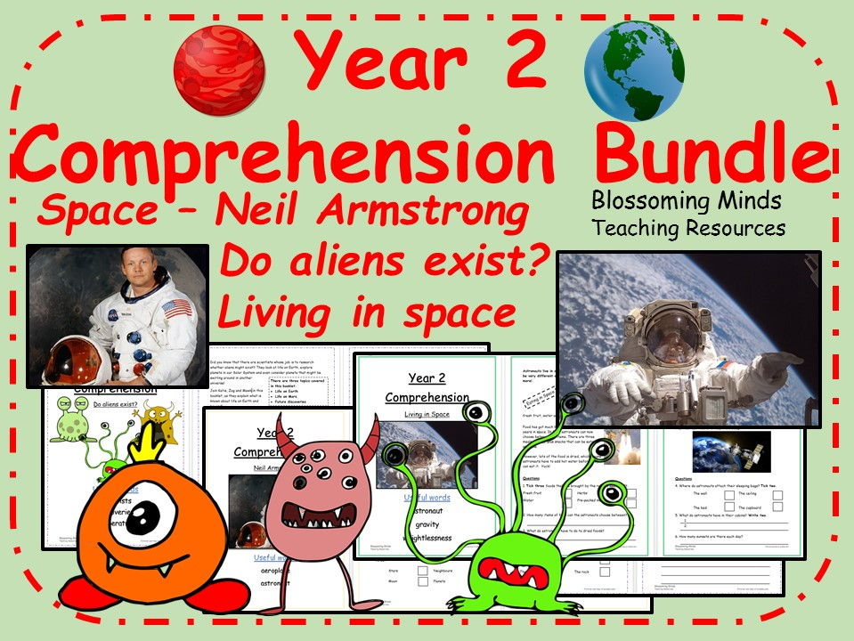 Year 2 World Space Week comprehension bundle
