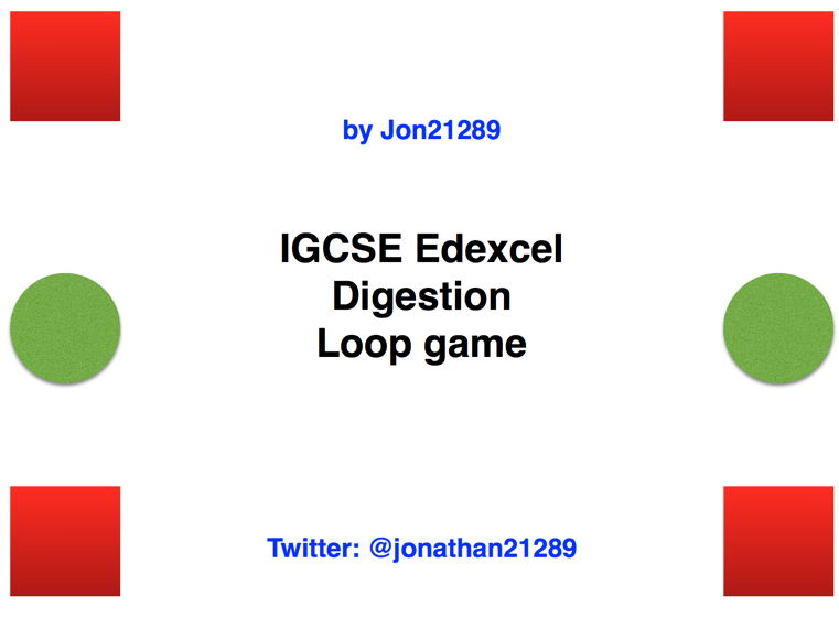 IGCSE Edexcel Digestion Revision Loop Game