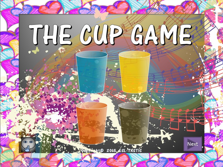 The Cup Game:  Power-Point Activity Station