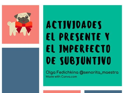 Present and Imperfect Subjunctive Spanish Worksheets