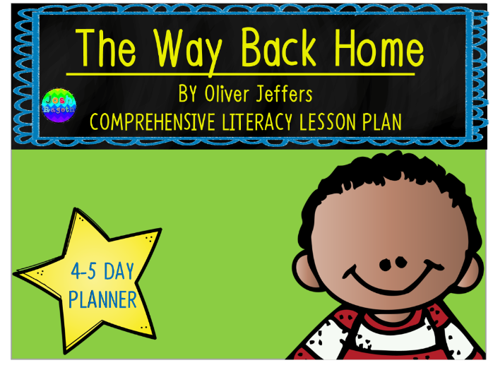 The Way Back Home by Oliver Jeffers 4-5 Day Lesson Plan