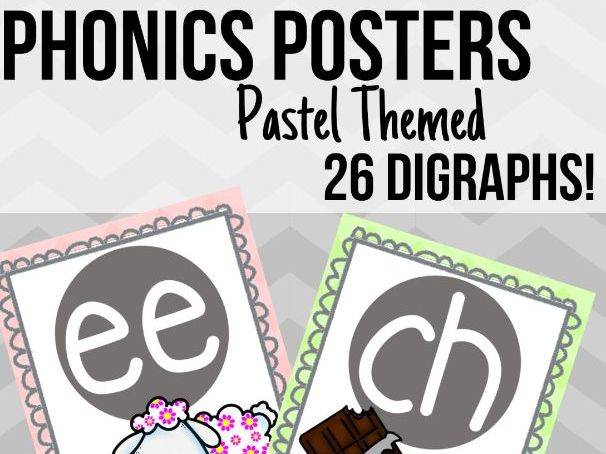 Pastel Phonics Posters