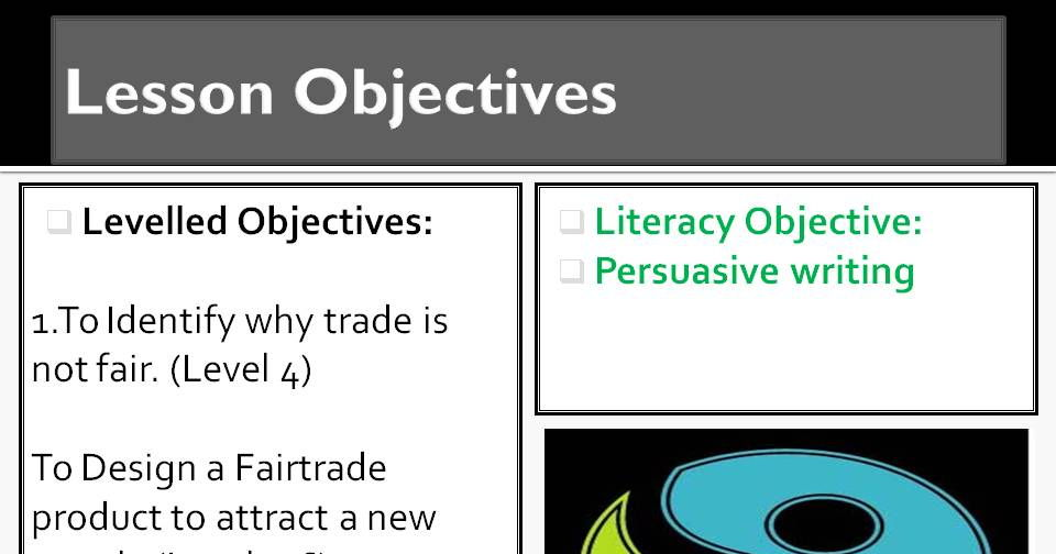Fairtrade lesson 5