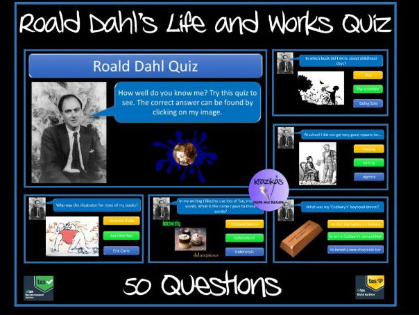 account of the life and works of roald dahl
