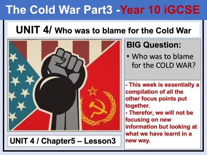 Cambridge IGCSE History - Unit 4 - Chapter5 - Lesson3