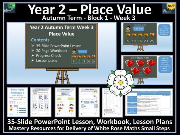 Place Value: Year 2 - Autumn Term - Week 3 - Maths' Resources For Delivery of White Rose Scheme