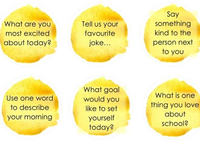 Start of the Day Questions