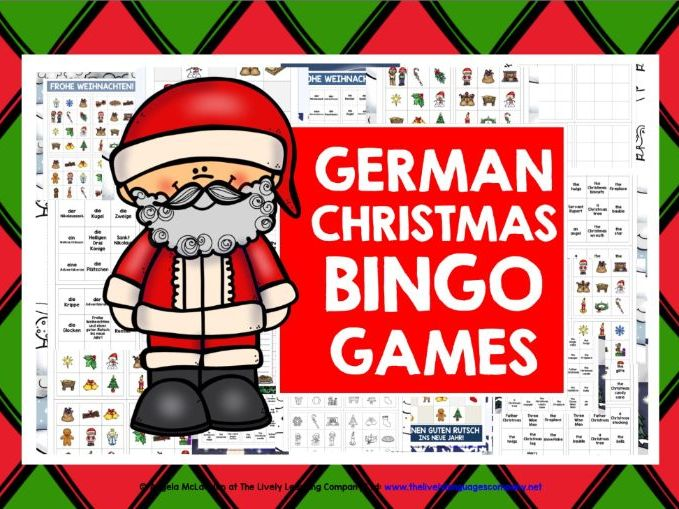CHRISTMAS: GERMAN CHRISTMAS BINGO