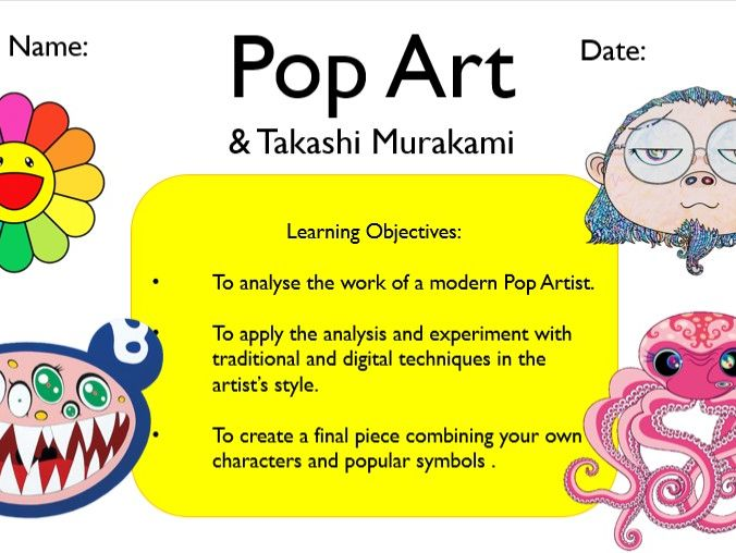 Takashi Murakami Pop Art