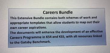 Careers Education Bundle - Linked to Gatsby Expectations