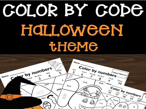Color by Code Number Sense Activity and Worksheets