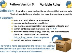 Python Version 3: Variable rules