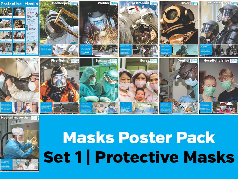 Types of Masks Poster Pack 1: Protective Masks