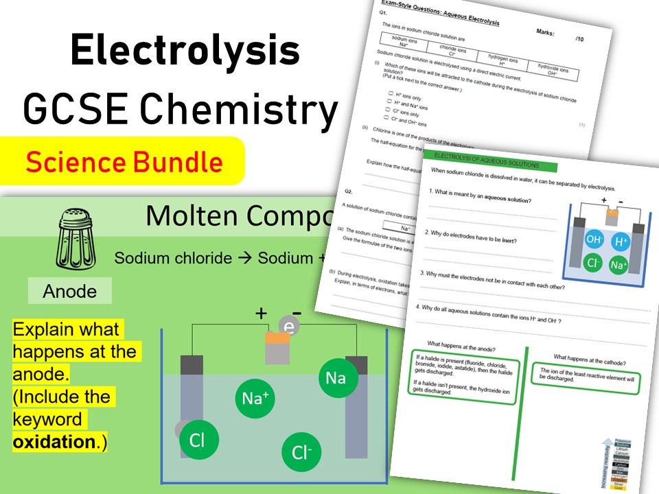 Electrolysis GCSE Chemistry