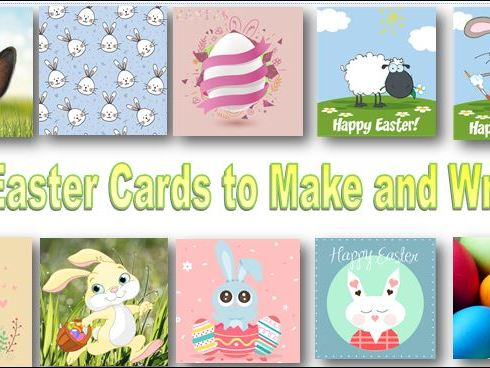 10 Easter Cards to Make and Write